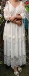 Vestido de noiva estilo vintage tamanho P