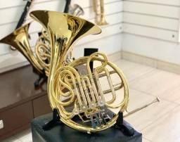Trompa dupla Yamaha YHR567 campana fixa Japonesa aparência de novo