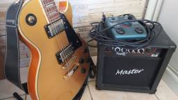 Guitarra Les Paul + Cubo + Pedaleira Zoom