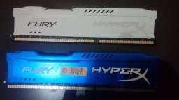 Memórias HyperX Fury, 8GB, 1600MHz, DDR3, CL10