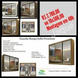 Guarda Roupa Sollo Premium/ Montagem em 48h.