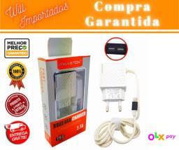 Entrega Grátis * - Carregador Iphone Duas Portas Usb 3.1a - Y15-2