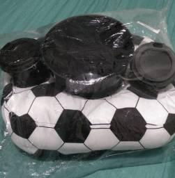 Almofada porta pipoca bola de futebool ,produto novo
