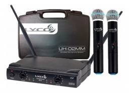 Microfone Sem Fio UHF Duplo de Mão Lyco