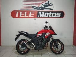 Honda CB500X, Vermelha, ABS, 2019.