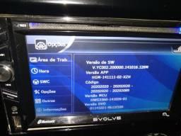 MULTIMIDIA 2 DIM EVOLVE MULTILASER COM GPS ,TV ,RÁDIO E BLUETOOTH EM PERFEITAS CONDIÇÕES.