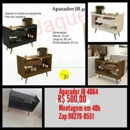 Aparador bar JB 4064/ Montagem Grátis.