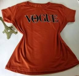 Blusa T-shirt estampa em veludo