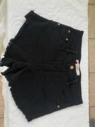 Short preto Bad cat