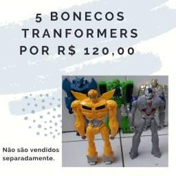 Bonecos TRANFORMERS (usados)