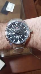 Relógio Masculino Naviforce Prata - Aço Inoxidável