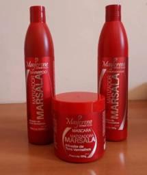 Kit Matizador Marsala ph 4.5, para mater a cor de cabelos vermelhos!