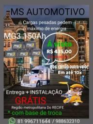 Bateria para caminhão / ônibus 150AH MG3 R$435,00