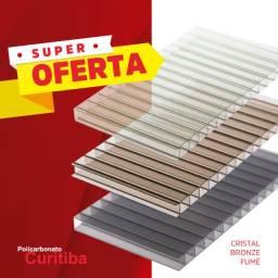 Super oferta - policarbonato alveolar 6mm (cristal, bronze ou fumê)