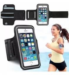 Braçadeira Fitness Passeio Esporte Academia porta Smartphone e Chave 6.5 Polegadas