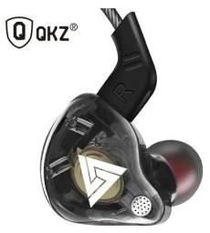 Fone De Ouvido Qkz Ak6 C/ Microfone In Ear