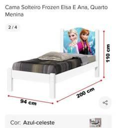 Cama solteiro frozen Elsa e ana sem colchão