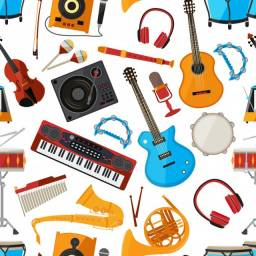 Violão, Guitarra, Teclado, Acordeon, Piano, Saxofone e todo tipo de insturmentos musicais