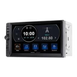 Central Multimídia 2 Din Com TV Digital Bluetooth e Espelhamento