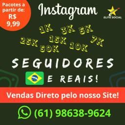 Seguidores para Instagram (1000) - Reais - Ativos e Brasileiros