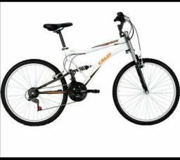 Bike lacrada Caloi amortecedores dianteiro e traseiro aro 26 top sem uso