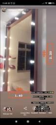 Espelho camarim com 20 lâmpadas