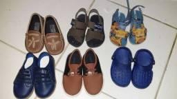 Lote sapatos menino semi novo