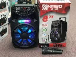 Box de som Kimiso Qs ? 2802 amplificadora 2000W Completo e Portatil!