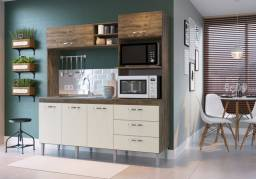 Cozinha Compacta 5 Portas 3 Gavetas