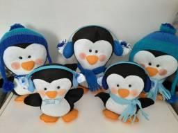 Pinguins e iglu em feltro