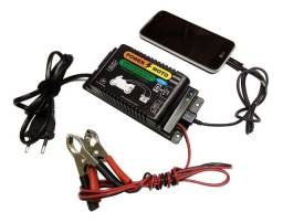 Carregador De Bateria Moto C/ Usb Para Celular