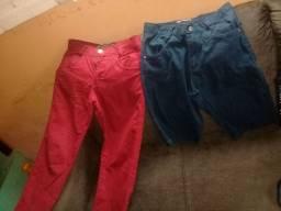 calça e bermuda em Jeans  de cor(oferta)
