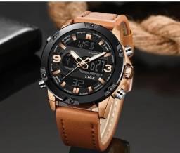 Relógio Lige Luxo Original - Analógico e Digital