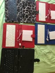 Vendo teclado para tablet , pc , notebook e celular com adaptador OTG