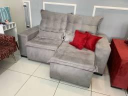 Estofado Retratil e reclinável Pillow top 2.0m