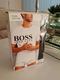 Camiseta hugo boss M , original gola normal.  Uma de cada cor, cinza, preta e branca.