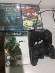 Controle e Jogos originais de PlayStation 2