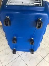 Caixa de Transporte Clicknew Azul com Roda - 04