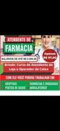 Título do anúncio: Curso de atendente de farmácia (online)