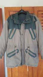 Jaqueta masculina sobretudo parka dupla face e touca tamanho G