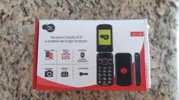 Celular DL YC-130, 2.4, Dual Chip, Câmera VGA, Rádio FM, MP3, função SOS Preto