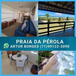 Praia da Pérola, 2/4 e Chalés 3/4 - vista mar - Ilhéus-BA( 60x Sem Juros) Belíssimo