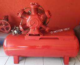 Compressor reformado W900 60pés Com motor 15cv
