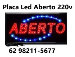 Placa Luminoso Painel De Led Letreiro Loja Aberto 220v distribuidora
