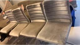 4 cadeiras giratória