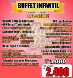 Buffet Infantil Completo - aceito cartão