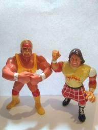 Bonecos Hulk Hogan e  Roddy Piper Hasbro 1991