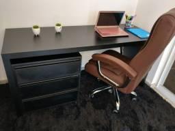 Escrivaninha/ mesa computador/ escritório/ gaveteiro MDF novo