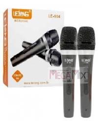 microfone duplo com fio