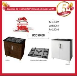 Balcão 80 cooktop